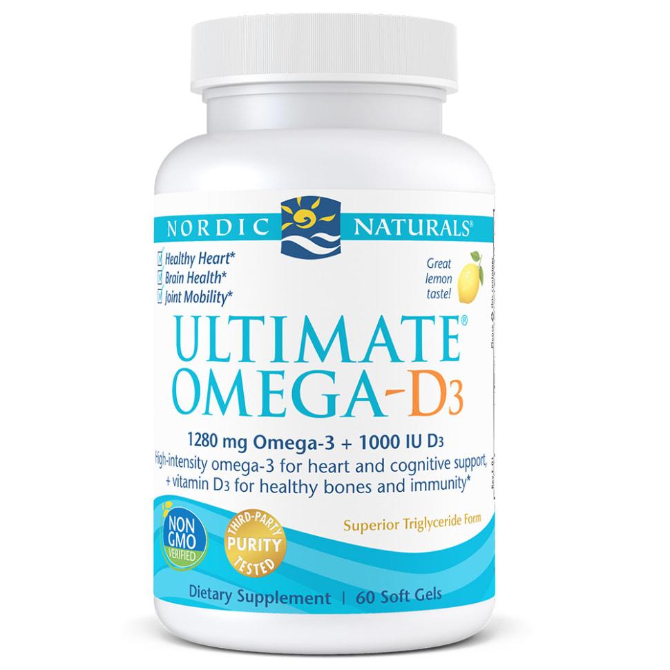 终极Omega鱼油+维生素D3