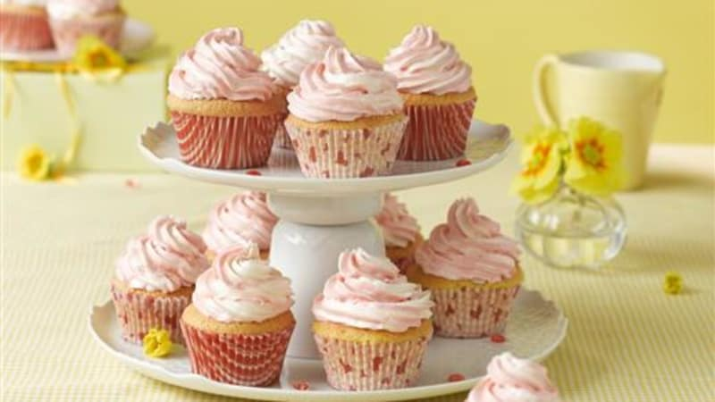 Cupcakes med marmorert glasur
