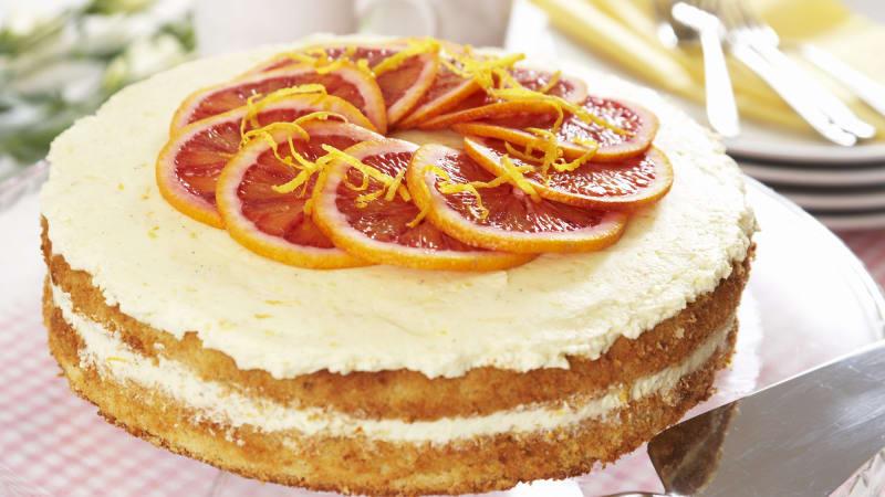 Frisk sitron- og appelsinkake