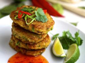 Krabbekaker med smak av Thailand