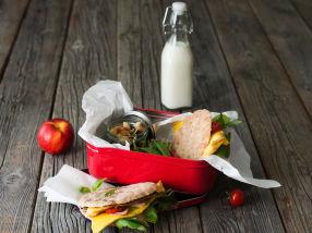 Polarbrød med omelett og nøtteblanding