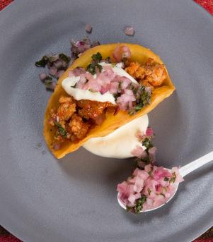 Taco med kylling og koriander