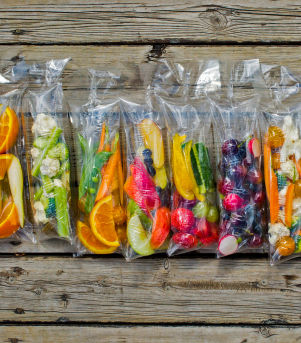 Fruktposer til matpakken