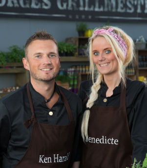 Pølsemaker Benedikte Brubakken & kryddereksperten Ken Harald Iversen