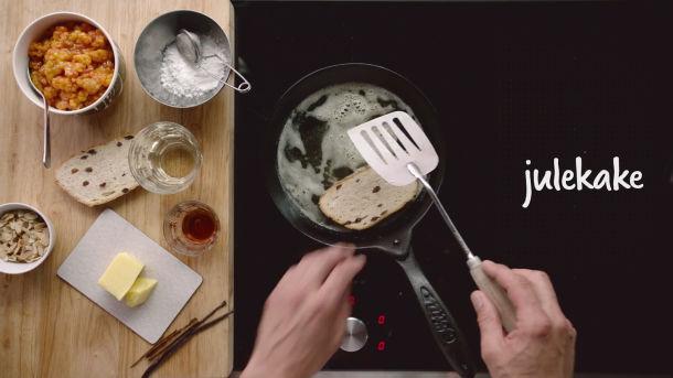 MENY-Lauget presenterer: Julekake med konjakkrem og multer