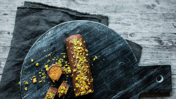 Sunnere marsipan med mørk sjokolade