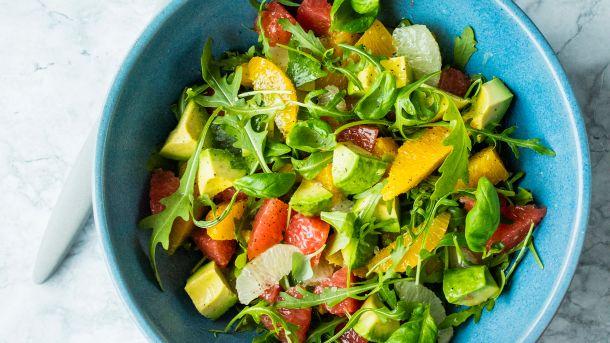 Sitrussalat med grapefrukt og limedressing