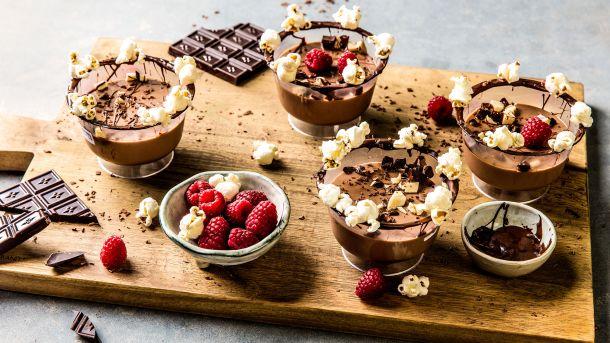 Sjokolade panna cotta