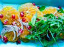 Klementin- og rødløksalat