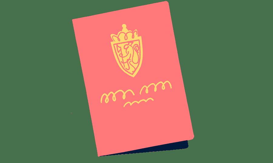 Illustrasjon av pass