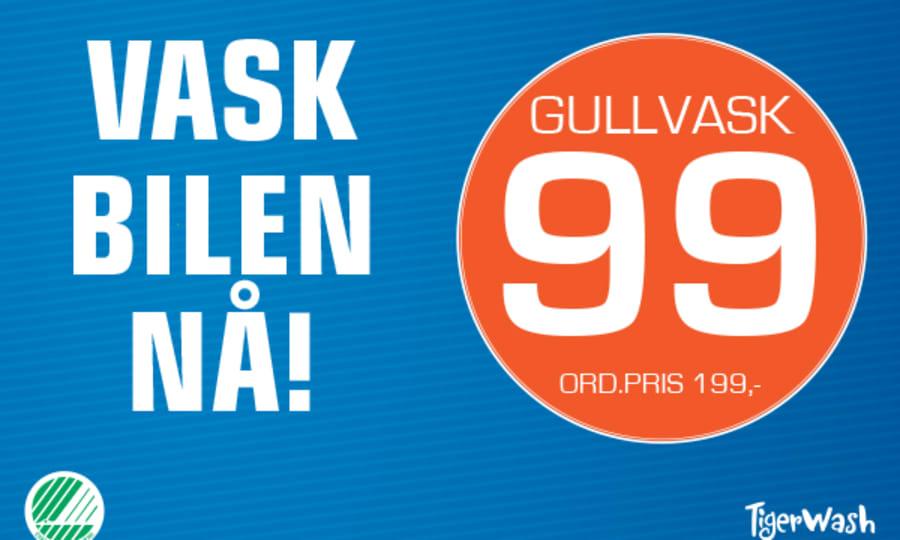 """Tilbud på bilvasken """"Gullvask"""" hos Esso"""