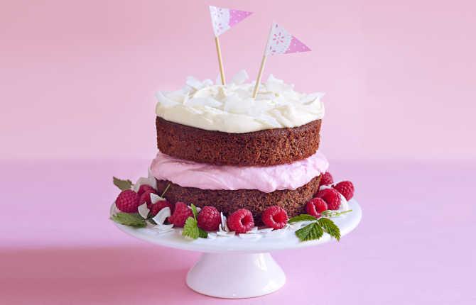 Rød velvet kake med rødbeter og yoghurt
