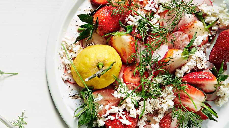 Jordbærsalat med Tabasco