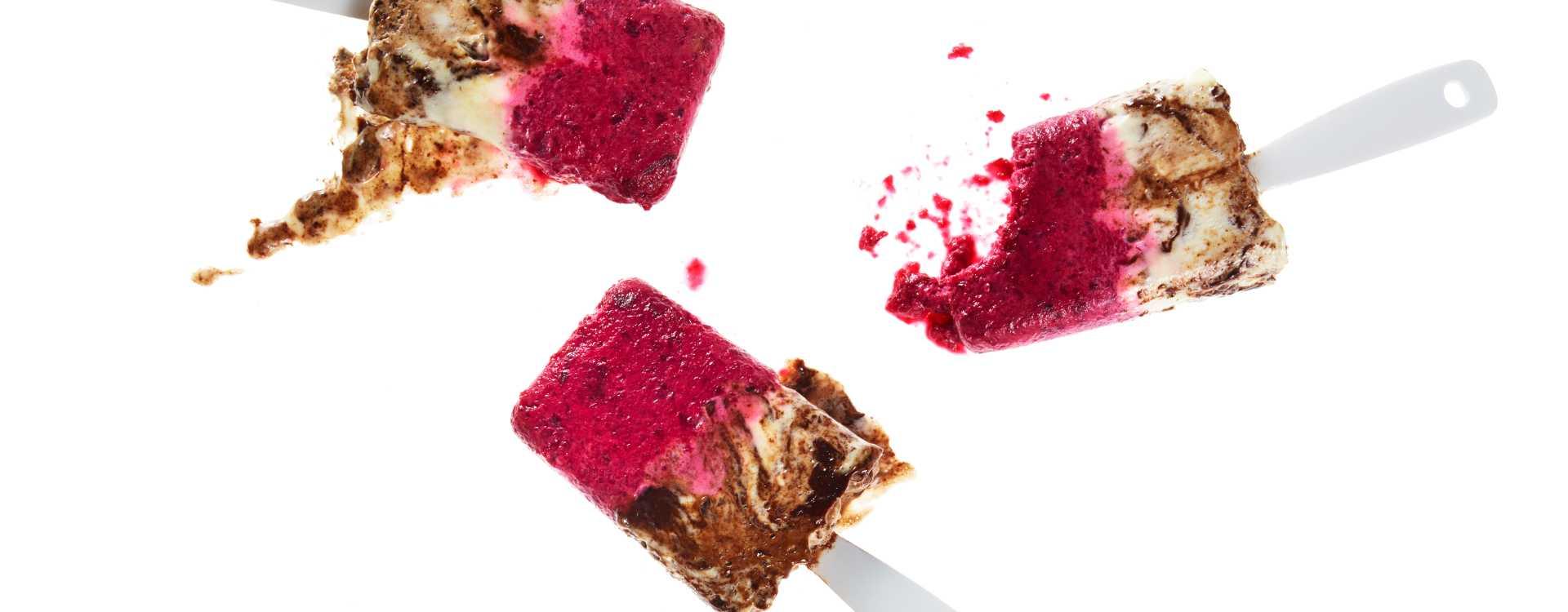 Rødbete- og sjokoladeis