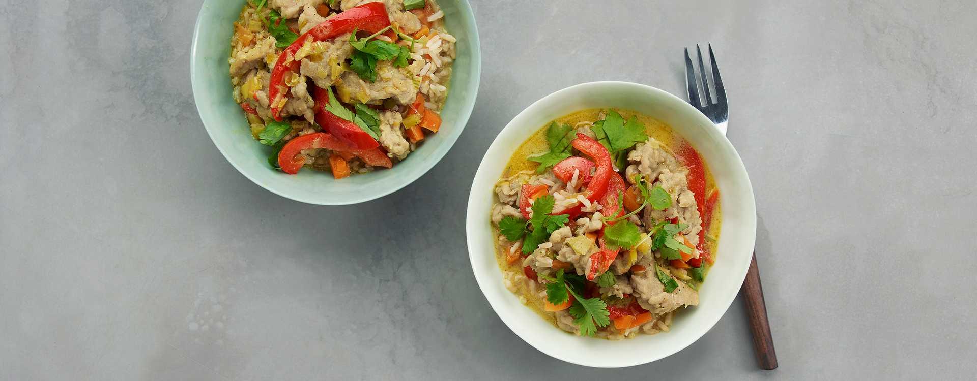 """Asiatisk """"bolognese"""" med kyllingkjøttdeig"""
