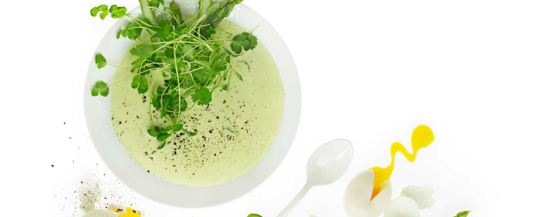Aspargessuppe med koriander