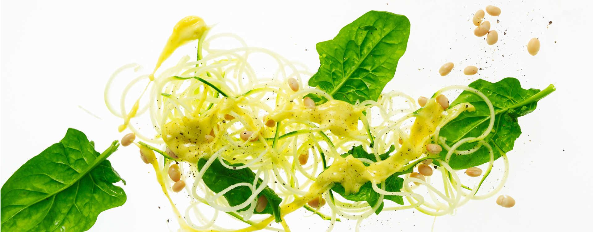 Squashpasta med ost og hvitløk