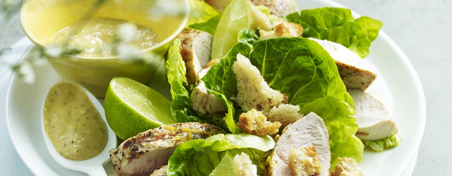 Sitronstekt kalkunfilet med Cæsarsalat