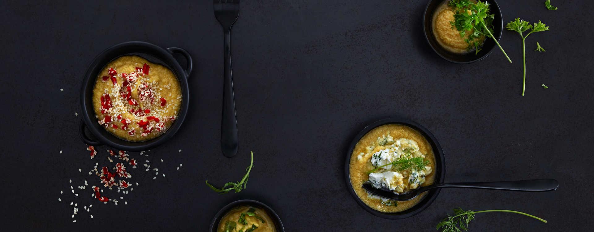 Hummus med sesamfrø og chili