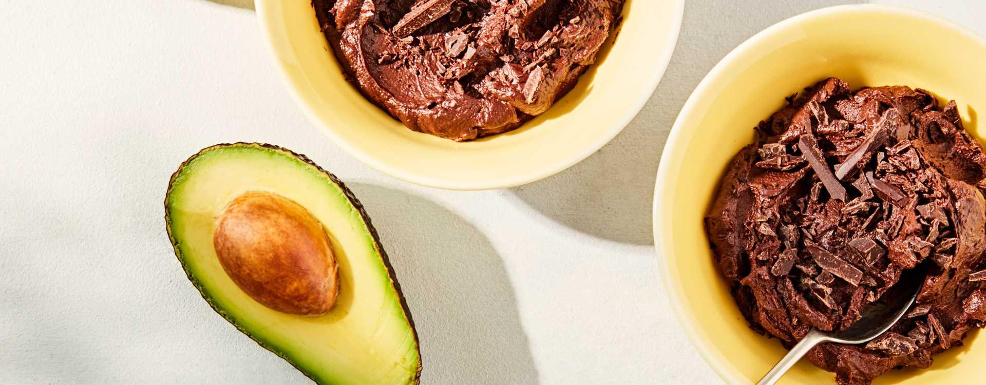 Mørk sjokolademousse med avokado