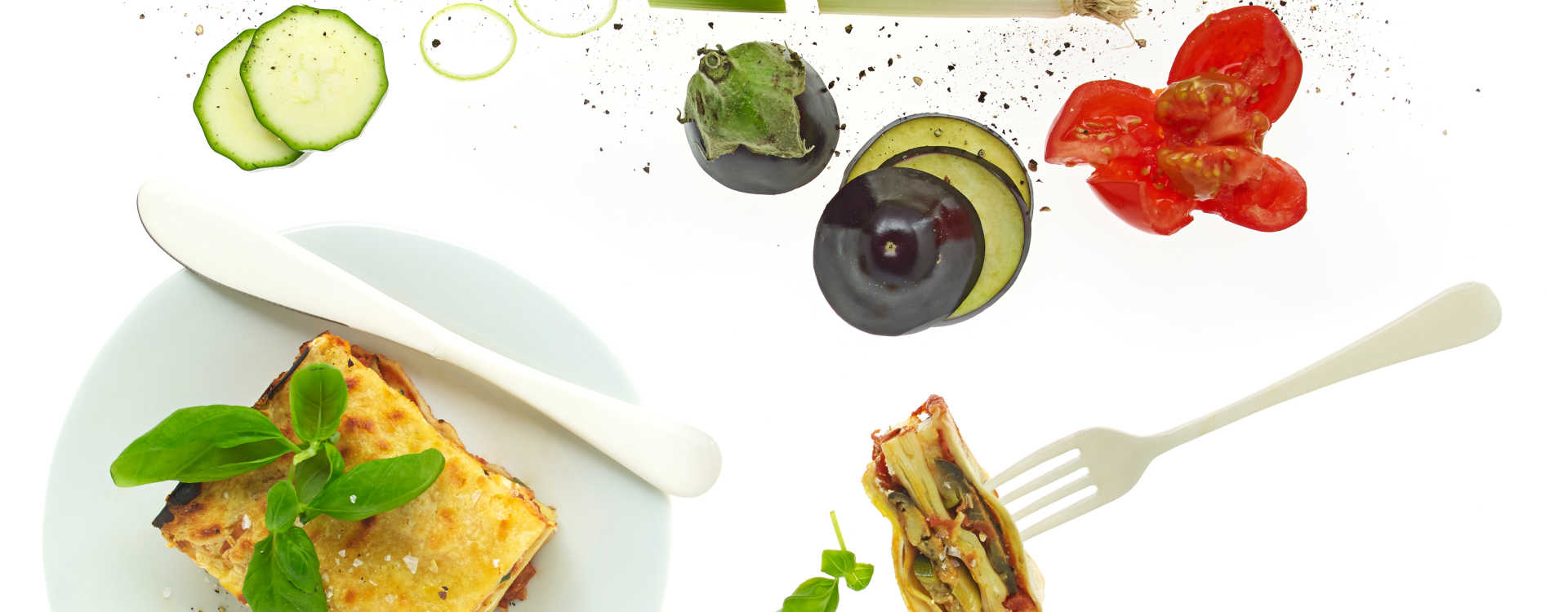 Vegetarlasagne med aubergine og kremostsaus