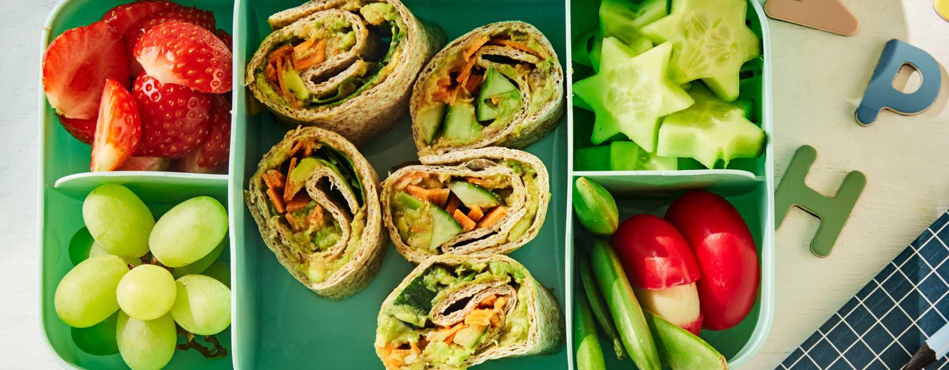 Grov wrap med hummus og grønnsaker
