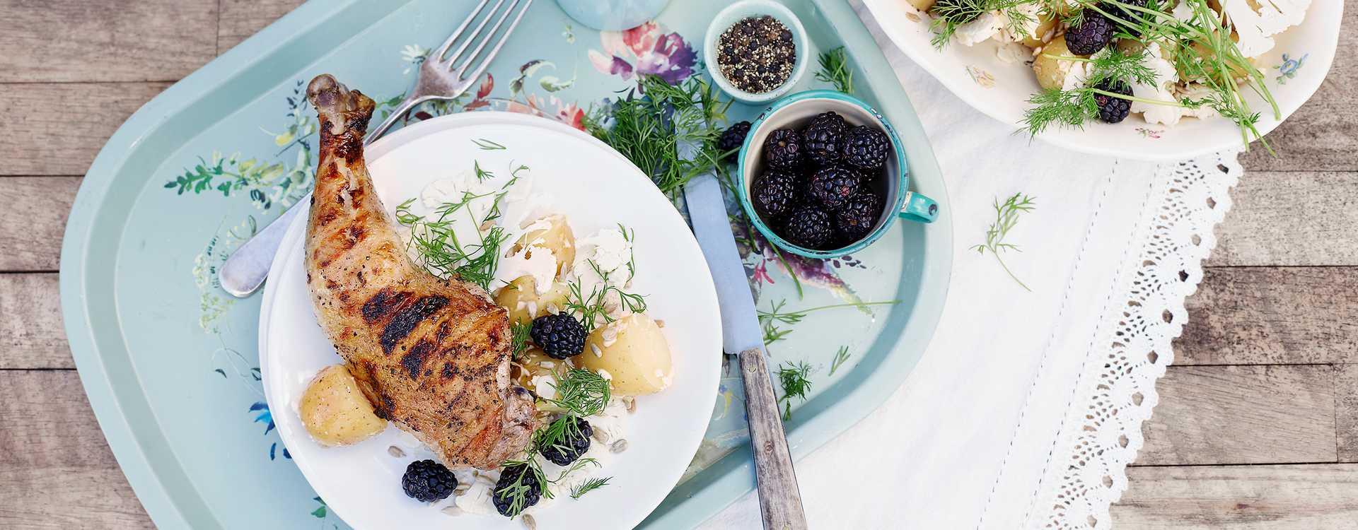 Kyllinglår og potetsalat