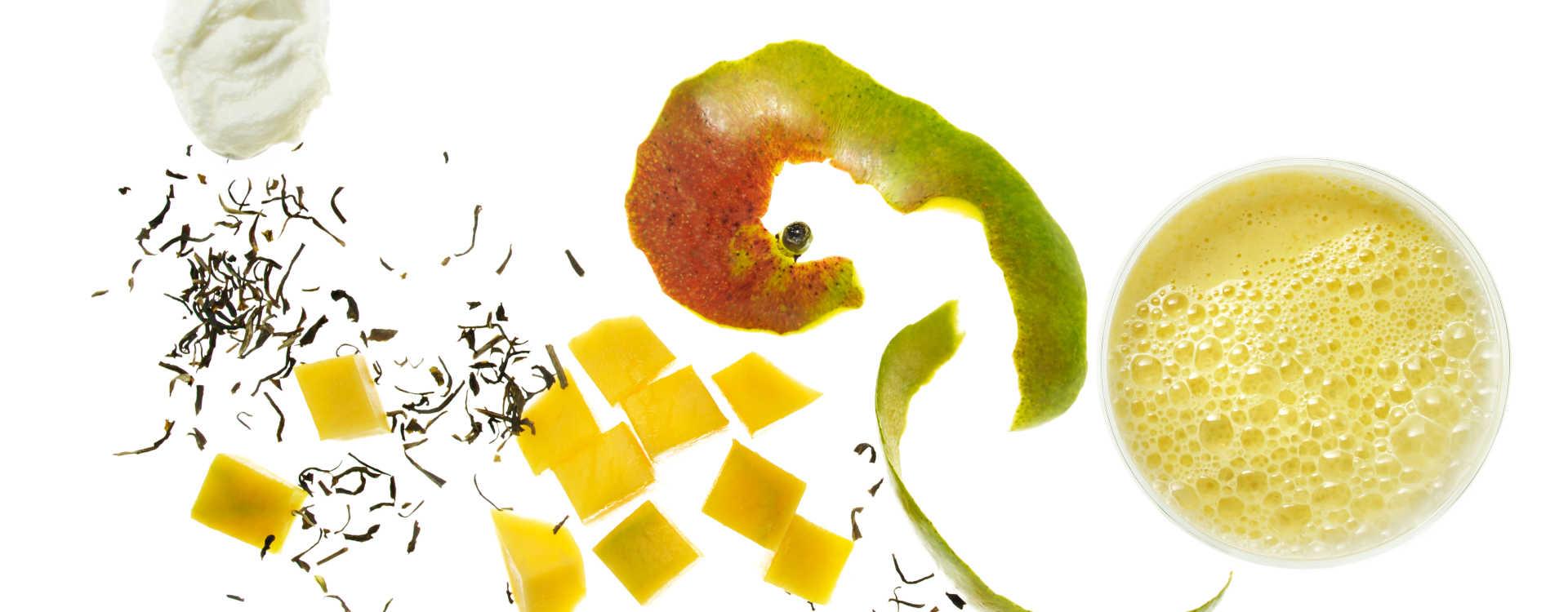 Mango- og grønn te smoothie