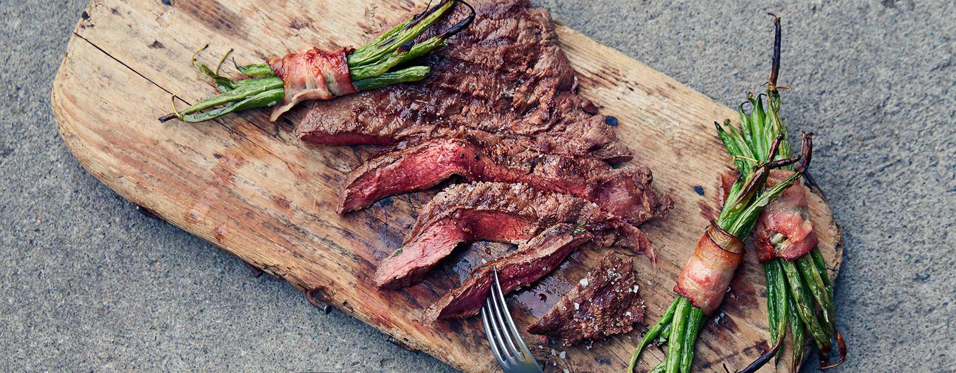 Flat iron steak på fjøl med Pommes duchesse