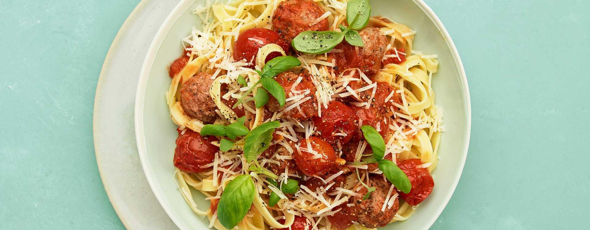 Tagliatelle med italienske kjøttboller