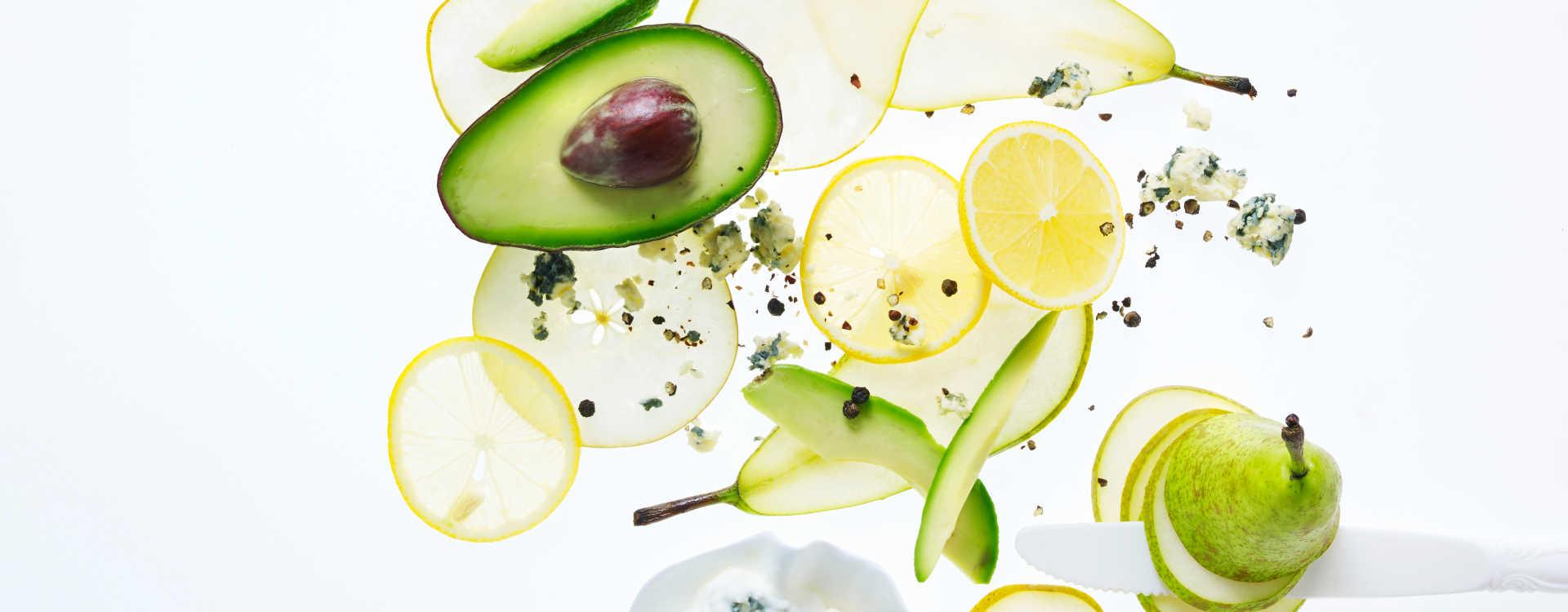 Pære- og blåmuggost-salat