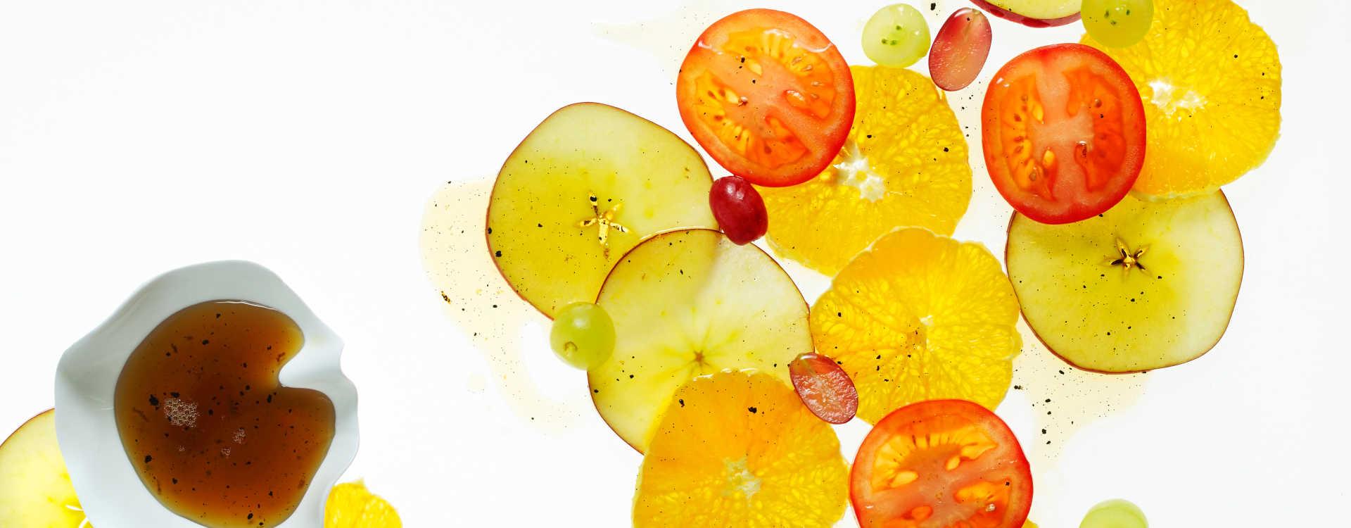 Fruktsalat med ølsirup