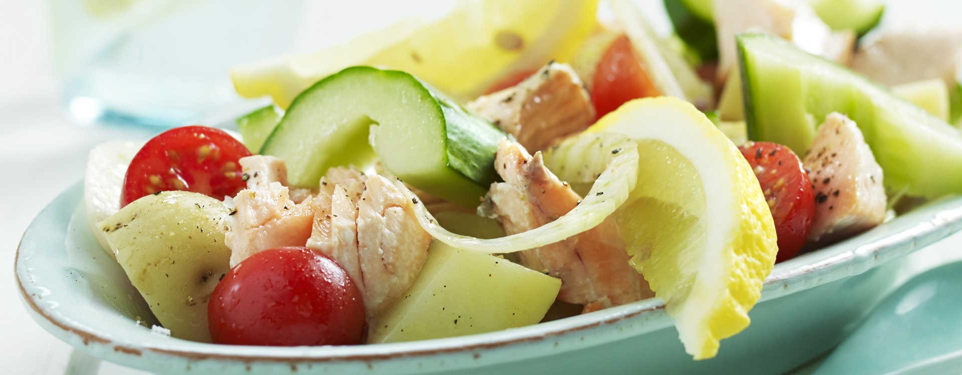 Laks med potet- og fennikelsalat