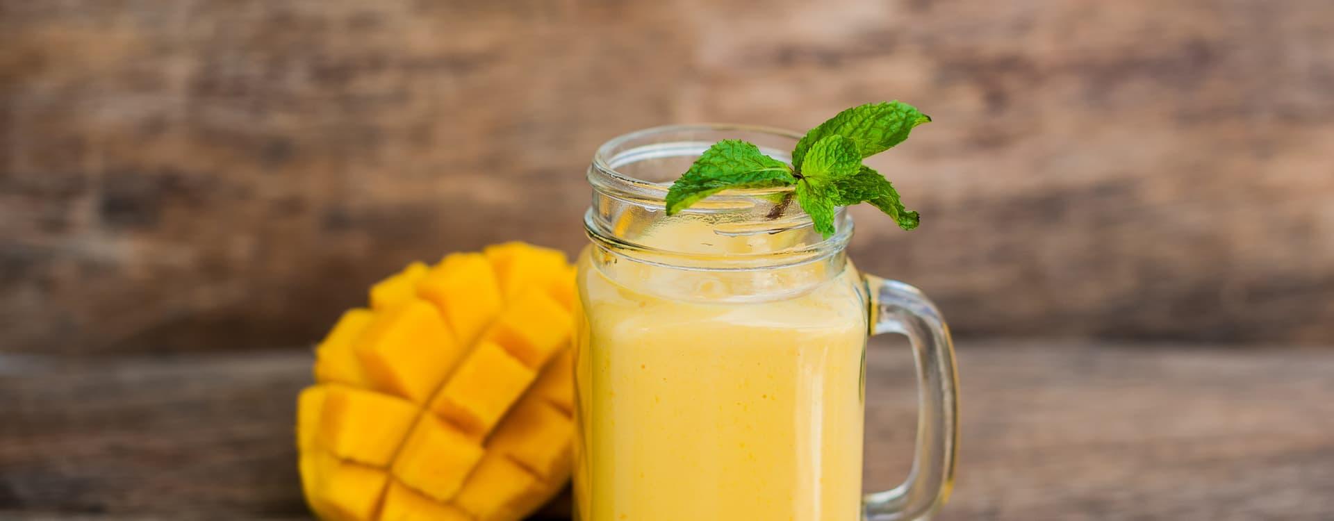 Mangois med Yoplait Double 0% mango