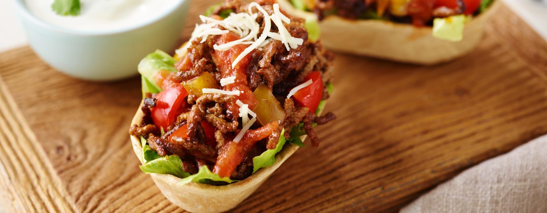 Mini Stand'N Stuff™ Taco med kjøttdeig og ost
