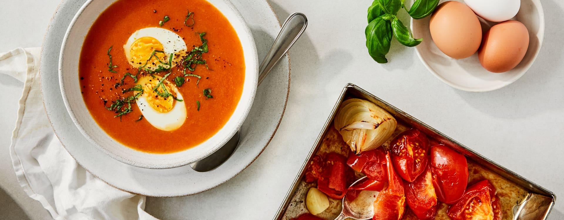 Ovnsbakt tomatsuppe