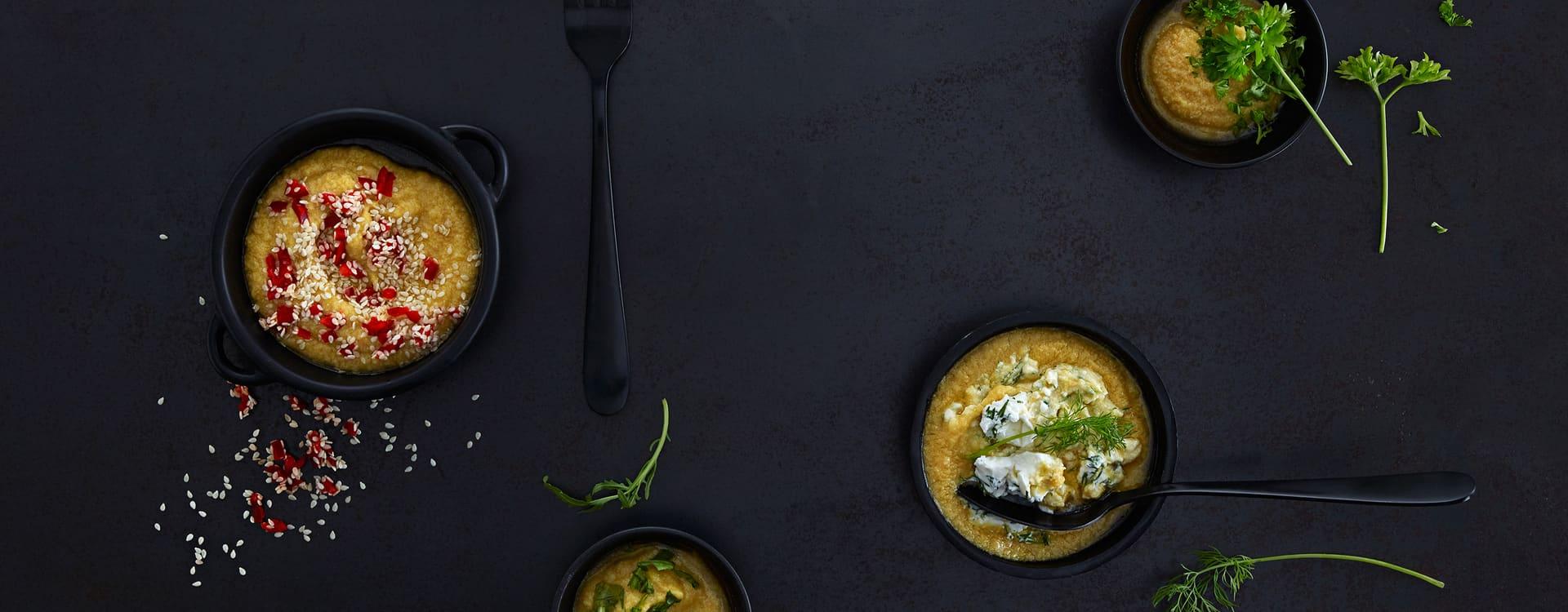 Hummus med mascarpone og dill