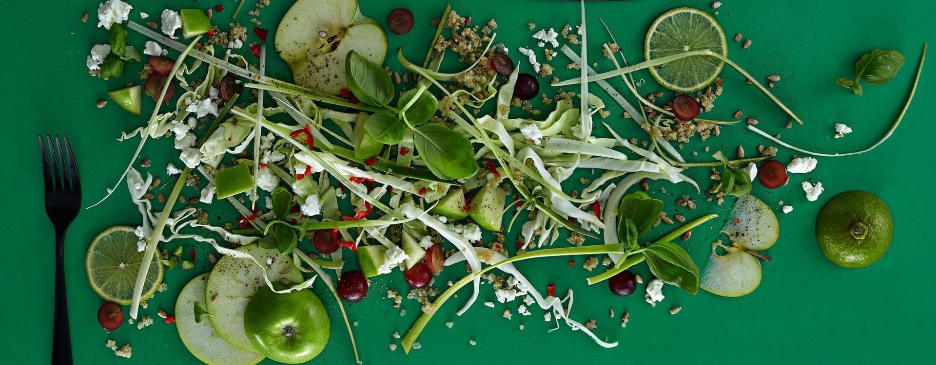 Quinoasalat med chili,og eple