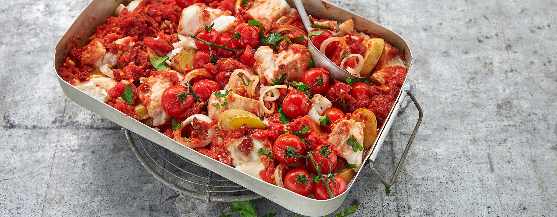 Skrei / torsk i sterk tomatsaus