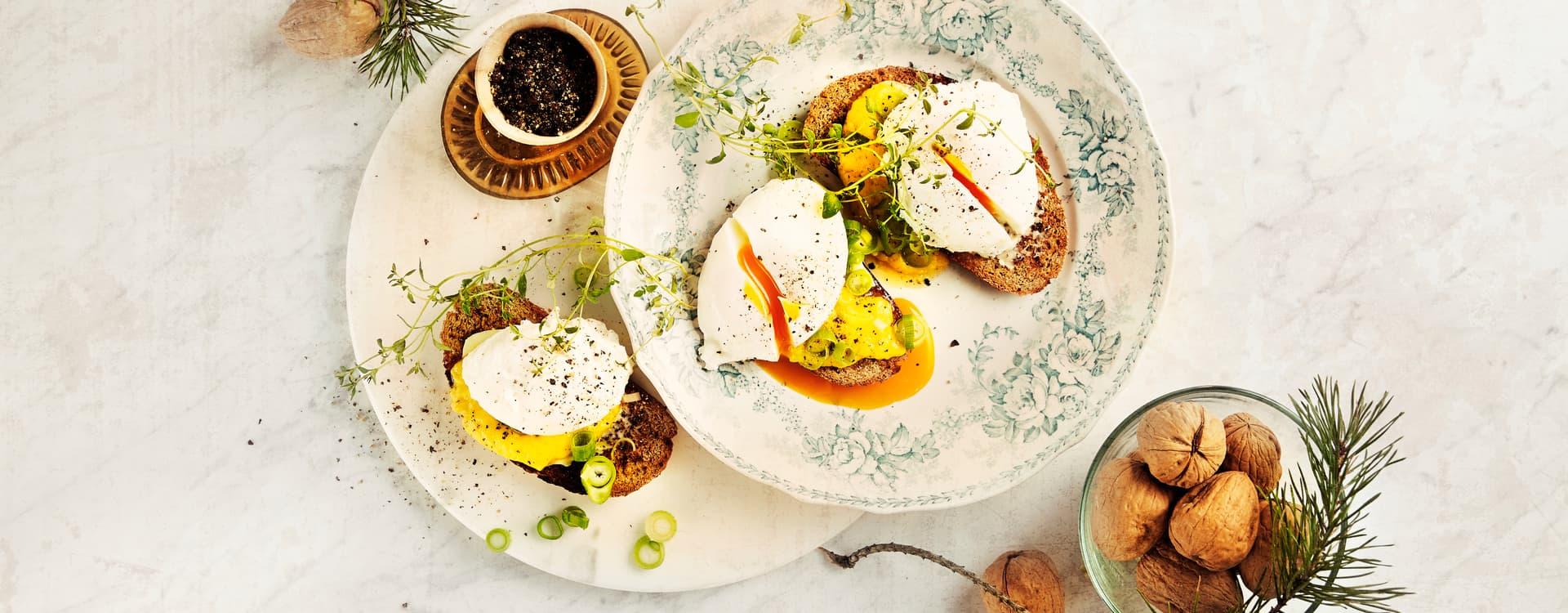 Posjerte egg med Hollandaise
