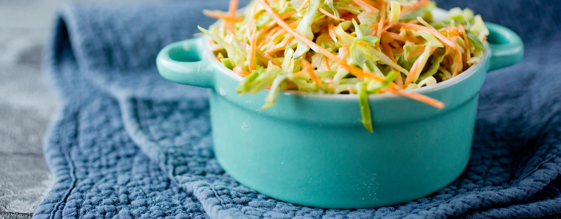 Sunnere coleslaw med nykål