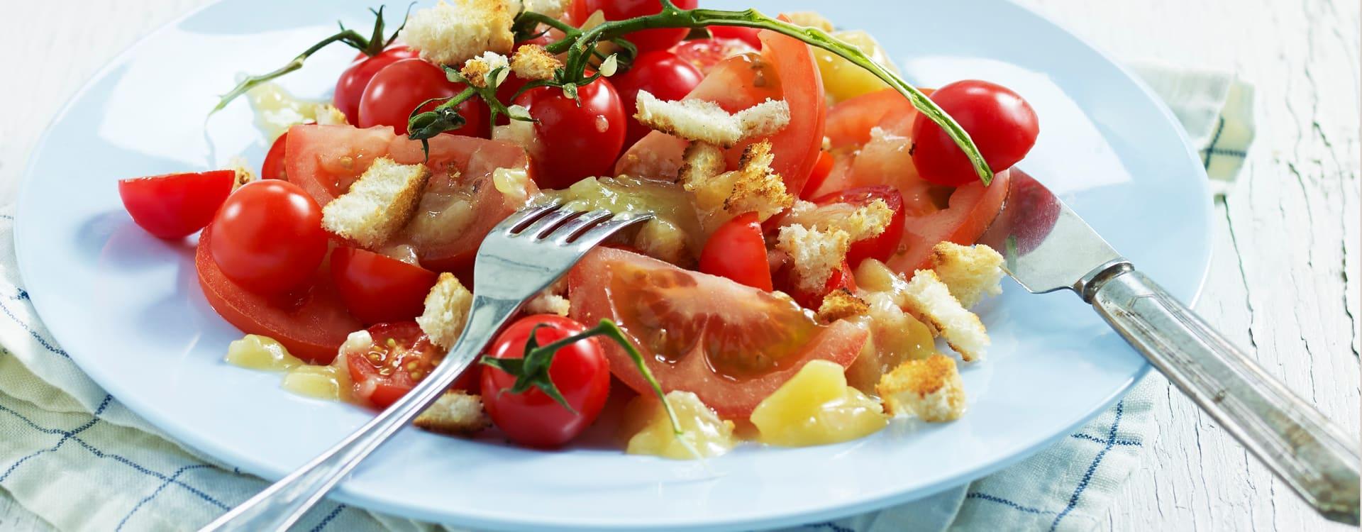 Tomatsalat med eplemarinade