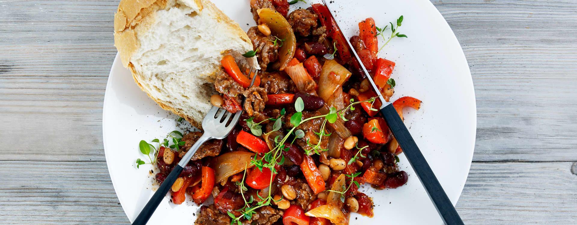 Kjøttdeig chili con carne