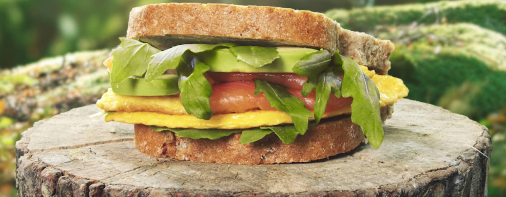 Matpakke til turen: Tynn omelett på Naturlig Sunt Speltbrød
