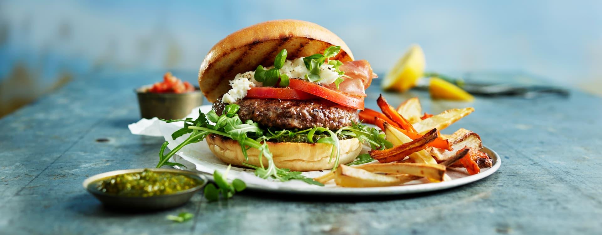 Beefburger, italian style