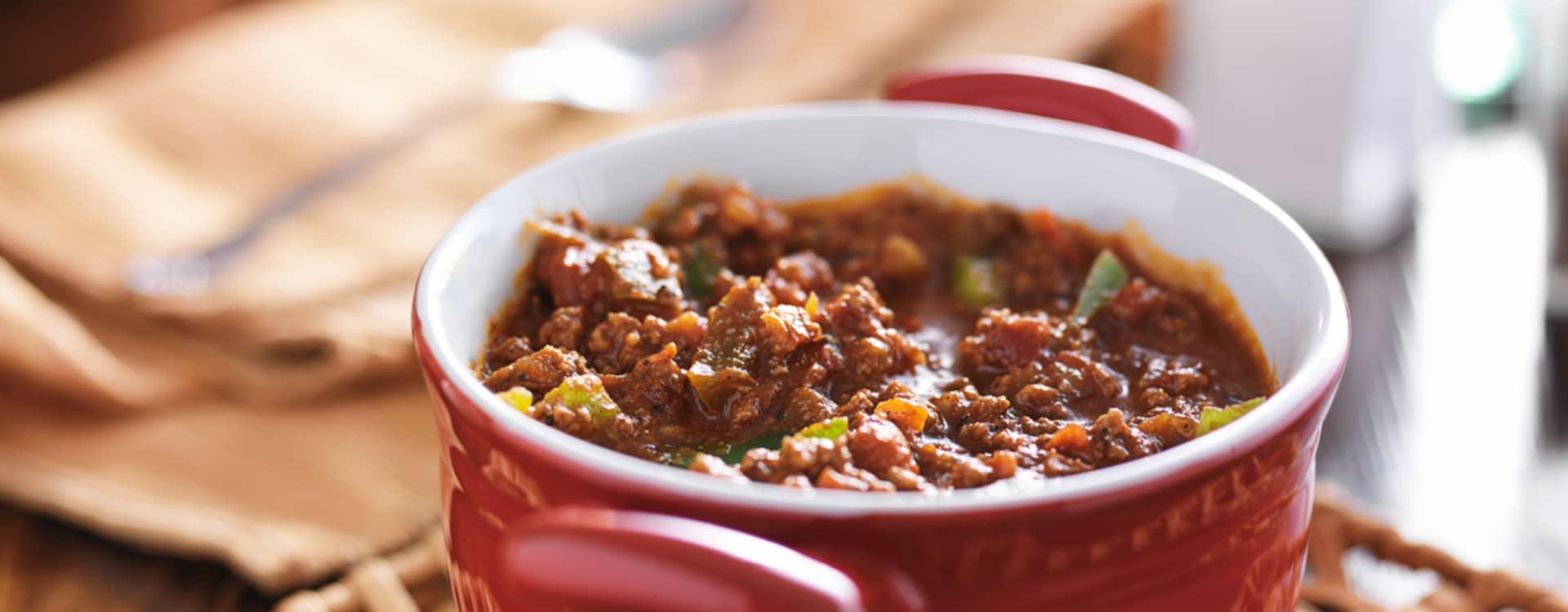 Chili con carne med jalepenos