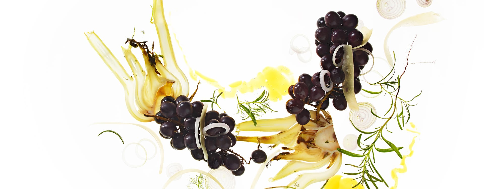 Varme druer med honning og ost (Grana Padano)
