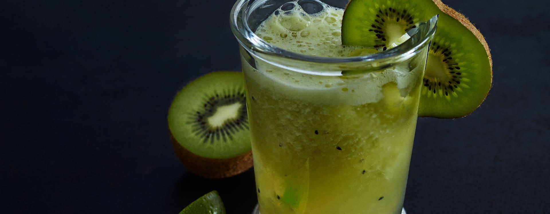 Iste med lime, kiwi og ingefær