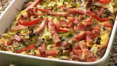 Bondeomelett med kjøttdeig av svin