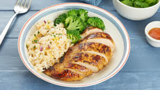 Kyllingfilet med spicy ris og brokkoli